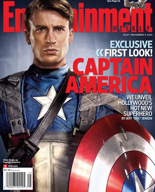Capitan America  Primer Foto Oficial De Chris Evans Con Traje Y Escudo