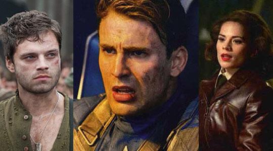 Fotos de Capitan America con Bucky y Tommy Lee Jones