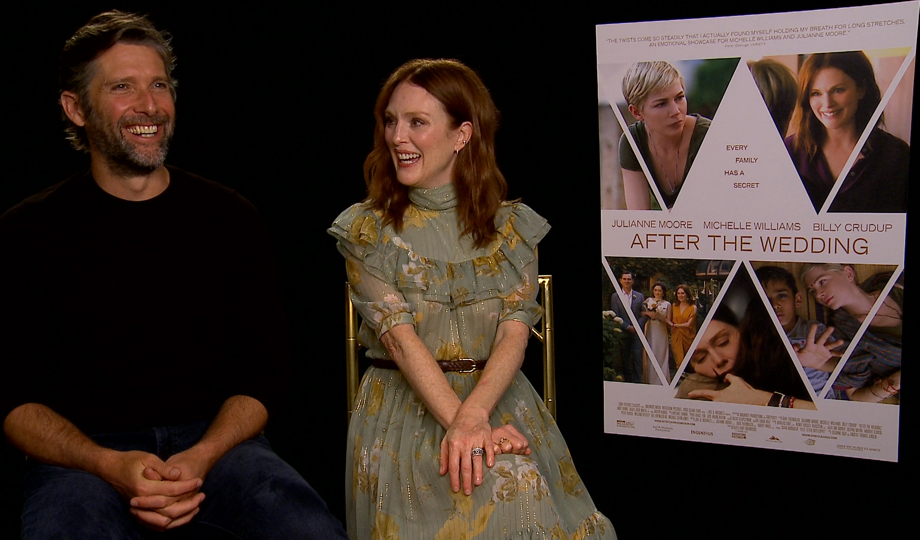 After The Wedding.Julianne Moore And Bart Freundlich Talk After The Wedding